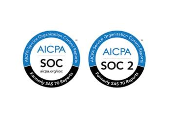 AICPA SOC and SOC 2 logos
