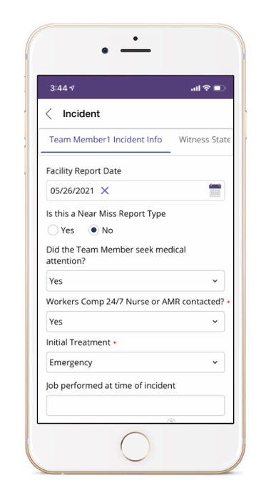 Pulpstream Incident Management Software on Mobile Phone
